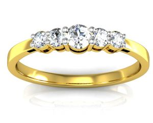 Jewellery - Avsar Real Gold and Swarovski Stone Varanashi Ring INTR077YB