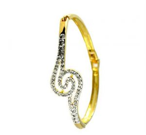 vipul,pick pocket,soie,the jewelbox,hoop,kiara,surat diamonds Silvery Jewellery - Kiara AMERICAN DIAMOND BRACELET KIB0002