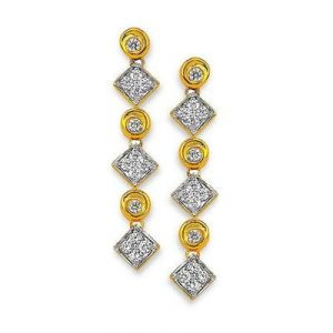 Ag American Diamond Square Shape Earring Kie0002