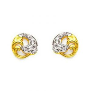 Ag American Diamond Glass Shape Earring Kie0006