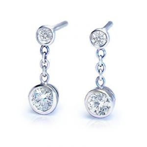 Ag American Diamond Stick Shape Earring Kie0010