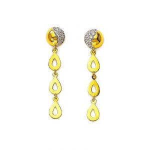 Kiara,Sparkles,Jagdamba,Triveni,Platinum,Soie,Tng Diamond Jewellery - Ag American Diamond DUE DRIPPING SHAPE KIE0028