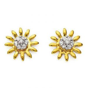 Kiara,Port,Surat Tex Diamond Jewellery - Ag American Diamond FLOWER LOOK EARRING KIE0032
