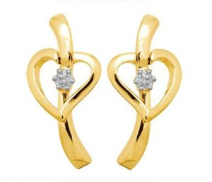 triveni,lime,ag,port,kiara Earrings (Imititation) - Kiara Heart Shape Earring KIE0039