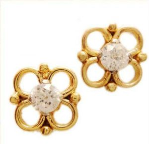 triveni,lime,ag,port,kiara Earrings (Imititation) - Kiara Flower Shape Earring KIE0040
