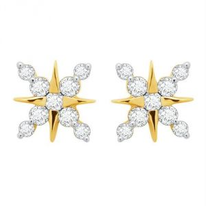 Kiara,Sparkles,Lime,Unimod,Cloe,Sangini Women's Clothing - Kiara Star Shape Earring KIE0051