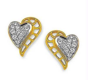 kiara,port,surat tex,la intimo,asmi,Kiara,Oviya Earrings (Imititation) - Kiara Heart Shape Earring KIE0054