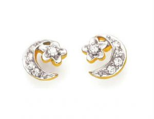 triveni,lime,ag,port,kiara Earrings (Imititation) - Kiara Moon Shape Earring KIE0055