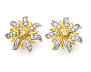 vipul,port,tng,sangini,jpearls,sinina,kiara Earrings (Imititation) - Kiara Flower Shape Earring KIE0062