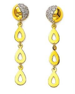 Asmi,Platinum,Kiara,Parineeta,Avsar Women's Clothing - Kiara Traditional Shape Earring KIE0065