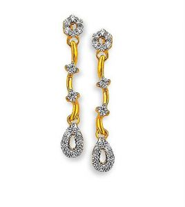 kiara,surat tex,tng,avsar,shonaya,gili,jpearls Earrings (Imititation) - Kiara Traditional Shape Earring KIE0068