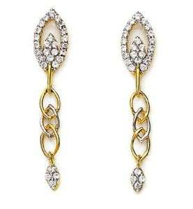 kiara,surat tex,tng,avsar,shonaya,gili,jpearls Earrings (Imititation) - Kiara Traditional Shape Earring KIE0069