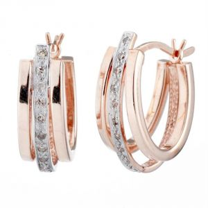 Kiara Traditional Pink Gold Plated Earring Kie0089