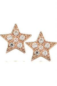 Kiara,Gili,Flora Women's Clothing - Kiara Pink Gold Plated Star Shape Earring KIE0093