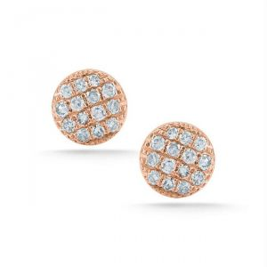 Kiara Pink Gold Plated Oval Shape Earring Kie0096