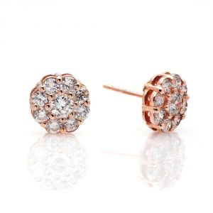 Kiara Traditional Pink Gold Plated Earring Kie0103