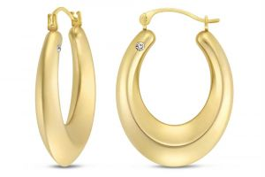 Kiara,Sparkles,Jagdamba,Bagforever Women's Clothing - Kiara Yellow Gold Plated Earring KIE0121