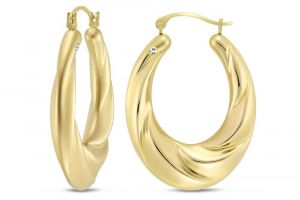 Kiara Yellow Gold Plated Earring Kie0122