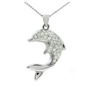 Kiara Fish Shape American Diamond Pendant Kip0026