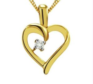 Pendants - KIARA SOLITAIRE HEART SHAPE AMERICAN DIAMOND PENDENT