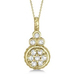 Kiara Heavy Look American Diamond Pendant Kip0152