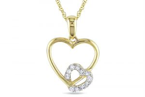 Kiara Yellowgold Plated Heartshape Pendant Kip0168