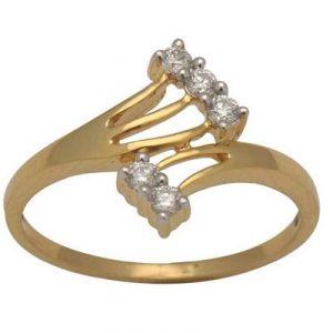 Ag American Diamond CLASSIC 5 STONE RING KIR0004