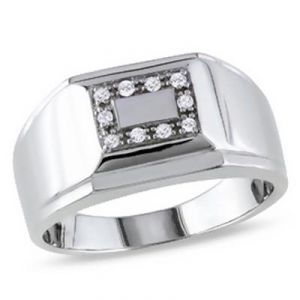 Ag American Diamond Royal Men Ring Kir0039