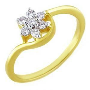 Kiara Flower Shape Diamond Ring Kir0069