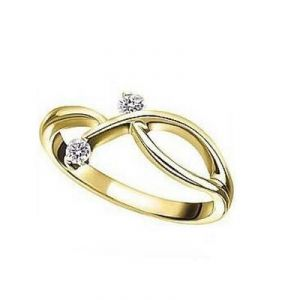 Kiara Traditional Shape American Diamond Ring
