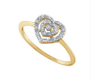 Kiara Heart Shape American Diamond Ring Kir0089
