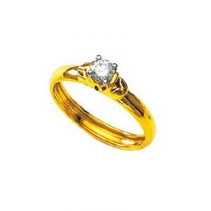 Silver Rings - Kiara SOLITIARE AMERICAN Diamond Ring KIR0096