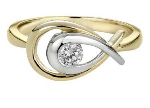 Kiara Pear Shape American Diamond Ring Kir0104