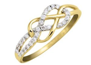 Diamond Rings - Kiara CRISS CROSS AMERICAN Diamond Ring KIR0105