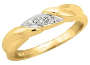Kiara Three Stone American Diamond Ring Kir0109
