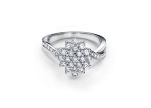 Kiara Engagement American Diamond Ring Kir0110