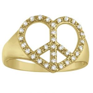Diamond Rings - Kiara LOVELY HEART AMERICAN Diamond Ring KIR0121