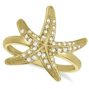 Kiara Star Shape American Diamond Ring Kir0135