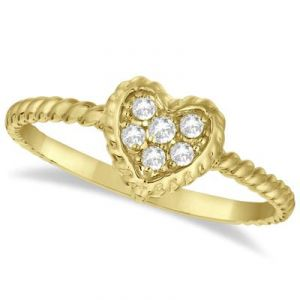 Kiara Heart Shape American Diamond Ring Kir0136
