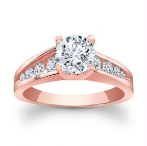 Kiara Pink Gold Plated Engagement Ring Kir0144