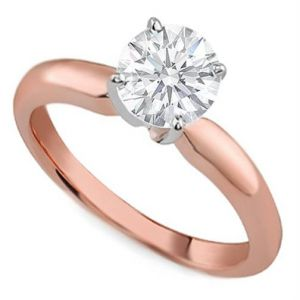 Kiara Pink Gold Plated Solitiare Ring Kir0157