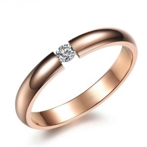 Kiara Lovely Pink Gold Plated Ring Kir0162