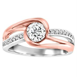 Kiara Two Tone Plated Engagement Ring Kir0166