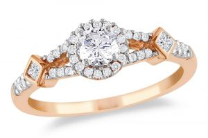 Kiara Pink Gold Plated Ad Ring Kir0185