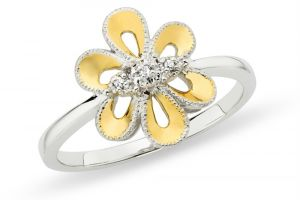 Kiara Flower Shape American Diamond Ring Kir0190