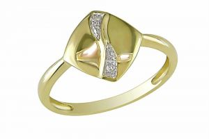 Kiara Yellow Gold Plated Ad Ring Kir0191