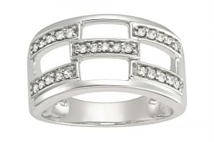 Kiara White Gold Plated Ad Ring Kir0198