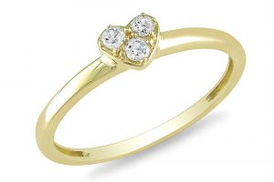 Kiara Yellow Gold Plated Heart Shape Ring Kir0200