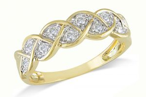 Kiara Yellow Gold Plated Ad Ring Kir0207