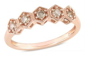 Kiara Pink Gold Plated Ad Ring Kir0216